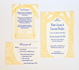 Cobalt Blue and Gold Mendocino Wedding