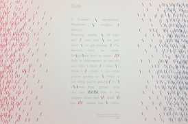 """Shift"" Letterpress Broadside"