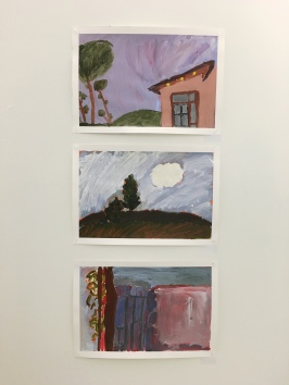Layered Acrylic Paintings - Julia, Ellie, Josh