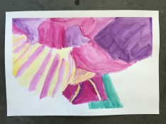 Josh's O'Keeffe Flower Watercolor
